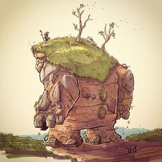 Few in numbers, the earthen giants who inhabit the land are rarely seen at all…