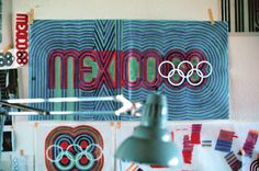 Mexico 68 Olympics Logo - Color studies by Lance Wyman Mexico Olympics, 1968 Olympics, Summer Olympics, Identity Design, Visual Identity, Brand Identity, Lance Wyman, Mexico 68, Olympic Logo