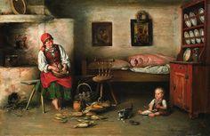 In The House by Franciszek Ejsmond     The Romanian Blouse through Polish eyes    http://www.agraart.pl/nowe/object.php?curr=PLN=14774=235