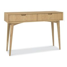 Skandi Oak Console Table with Drawer | Dunelm
