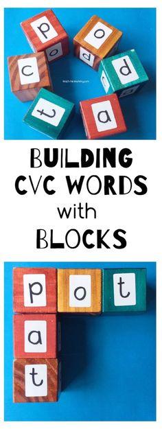Use blocks for building cvc words!