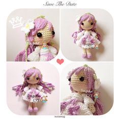 Photo from sugarlys Crochet Fairy, Crochet Girls, Crochet Cross, Crochet Dollies, Crochet Doll Pattern, Crochet Patterns, Pet Toys, Doll Toys, Little Doll