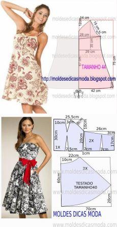 zhurnal.rykodelniza.ru Dress Making Patterns, Skirt Patterns Sewing, Vintage Dress Patterns, Clothing Patterns, Fashion Sewing, Diy Fashion, Como Fazer Short, Sewing Collars, Diy Clothes And Shoes