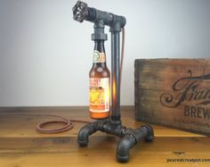Columbus Brewing Craft Beer Bottle Lamp by newwineoldbottles