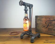 Columbus Brewing Craft Beer Bottle Lamp by newwineoldbottles
