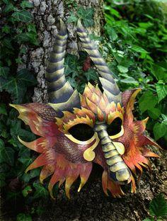 Greater Fire Dragon Mask by SilverCicada.deviantart.com