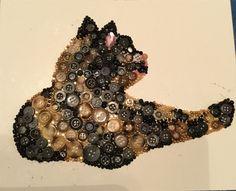 Cat button art