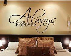 Bedroom Decor Bedroom Wall Decal Master by AmandasDesignDecals