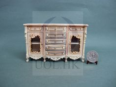 10% OFF -1:12 Scale Miniature Serpentine Side Board For Doll House [Unpainted]