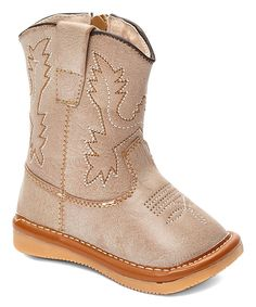 Look at this Shoes that Squeak Tan Squeaker Cowboy Boots on #zulily today!