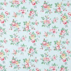Cotton Fabric | Kingswood Rose Cotton Duck | Cath Kidston