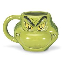 What's Christmas without The Grinch? Enjoy your favorite beverage in our expressive, sculpted mug! This product has a Lead Time of 7 days Whoville Christmas, What Is Christmas, Grinch Stole Christmas, Merry Little Christmas, Christmas Mugs, All Things Christmas, Christmas Holidays, Christmas Crafts, Christmas Decorations