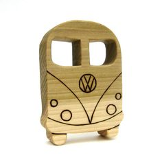 Best teether ever! ~ VW Bus  Wooden Teething Ring  Baby Teether Toy by ArmadilloDreams, $9.00