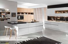 Diese Küche Kombiniert Die Nolte Küchen Fronten U201eNova Lack Weiß Hochglanzu201c  Mit Dem Echtholz