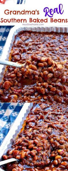 2 15 oz cans Great northern beans. 4 28 oz cans Pork and beans. Southern Baked Beans, Bbq Baked Beans, Homemade Baked Beans, Bbq Beans, Pork N Beans, Baked Bean Recipes, Home Made Baked Beans Recipe, Pork And Beans Recipe, Cowboy Baked Beans