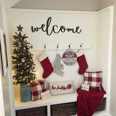 Welcome wood words wood word cut out laser cut wedding gift wooden wall art home decor wall decor entryway decor porch decor Foyer and Entryway Ideas art cut Decor Entryway Gift Home Laser Porch Wall Wedding wood Wooden Word Words Farmhouse Christmas Decor, Country Christmas, All Things Christmas, Christmas Entryway, How To Decorate For Christmas, Christmas Fireplace Mantels, Christmas Front Doors, Christmas Feeling, Christmas Bedroom
