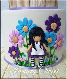 mug cake smores Girly Cakes, Fancy Cakes, Cute Cakes, Fondant Cakes, Cupcake Cakes, Bolo Laura, Floral Cake, Birthday Cake Girls, Novelty Cakes