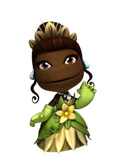 Tiana as a little big planet character