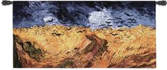 Wheat Field with Crows Wall Tapestry