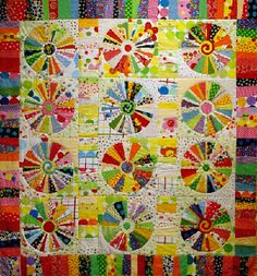 This is the quilt I am working on...but all my background will be only two patterns.