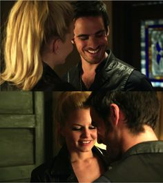 """At the end of the night ~ 4*4 """"The Apprentice."""" I love the way he smiles at her #CaptainSwan"""