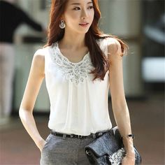 Active 2019 Spring And Summer Water Drill Button Lace Perspective Top Womens Loose Shirt Elegant Lantern Sleeve Blouse Tops Suitable For Men Women And Children