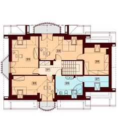 These two Contemporary Two Storey Home Idea are medium family home ideas. Country House Plans, Small House Plans, Storey Homes, Bonus Rooms, Malaga, Contemporary, Modern, Beautiful Homes, Floor Plans