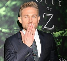 """Charlie Hunnam at """"The Lost City of Z"""" LA premiere Most Beautiful Man, Beautiful People, Gorgeous Men, Blowing Kisses, Charlie Hunnam Soa, Jax Teller, Haircuts For Men, Cute Guys, Sexy Men"""