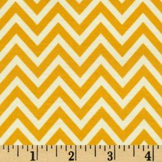 Riley Blake The Sweetest Thing Jersey Knit Chevron Gold - Discount Designer Fabric - Fabric.com