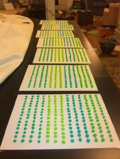 $2 DIY Candy Dots for Buffet! : wedding blue buffet candy cheap diy dots green inspiration reception teal CandyDots