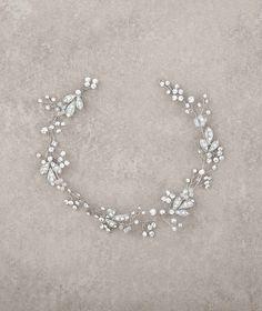 Diadema in argento invecchiato e strass | Pronovias | Pronovias