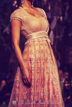 Gorgeous anarkali with exquisite detail
