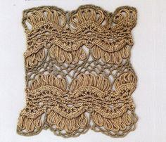 ИНТЕРЕСНЫЙ УЗОР КРЮЧКОМ.. Обсуждение на LiveInternet - Российский Сервис Онлайн-Дневников#free #crochet #pattern <3ceruleana<3 Hairpin Lace Crochet, Thread Crochet, Crochet Stitches, Knit Crochet, Broomstick Lace, Knit Patterns, Stitch Patterns, Loom Knitting, Burlap Wreath