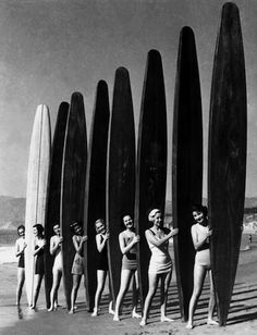 girls and surfboards #vintage #surfboards #photography