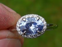 Light blue unheated Ceylon sapphire