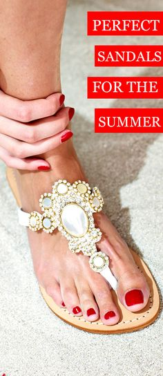 Natural shell sandal