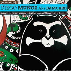 Ilustración. Mural de DIEGO MUÑOZ Aka Damcard.  Ilustración compartida desde Tunja (COLOMBIA).    Leer más: http://www.colectivobicicleta.com/2013/03/Ilustracion-de-DIEGO-MUNOZ-Aka-Damcard.html#ixzz2Ntuht0oH