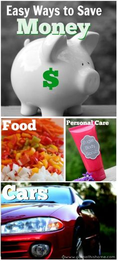 Easy Ways To Save Money--on almost everything!  Making a couple small changes can really make a difference in your budget!