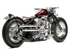 Type 6 - This is a customizable limited production gooseneck 'samurai' style low choppper.  The Type 6 is available with a modern S&S engine styled to resemble either a Shovel, Knuckle or Panhead and with 3 sizes of gas tank options. - image 2117