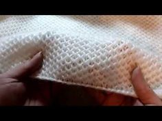 TUTO Point nid d'abeille (droitier) - YouTube