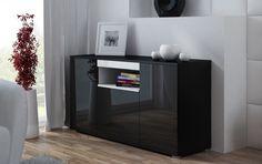 Komoda VIVA - (černá-bílá) Police, Bookcase, Shelves, Home Decor, Shelving, Decoration Home, Room Decor, Book Shelves, Shelving Units