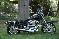 My 1982 Harley Davidson Superglide FXR - A shovel with a chain.