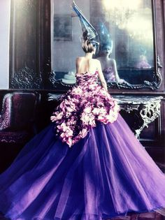 John Galliano for Dior Haute Couture - Photo by Patrick Demarchelier #purple #radiant #orchid #pantone