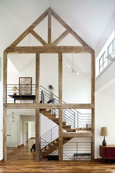 Exposed beams   this would be awesome to have in my dream house....