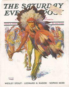 Dancing Warrior by Wm. Henry Dethlef Koemer, April 4, 1936, Saturday Evening Post.