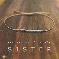 Sister Morse Code Bracelet - Friendship Bracelet - Best Friend Gift - Minimalist Jewelry - Beaded Bracelet - Personalized Bracelet