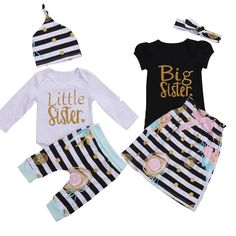 3PCS Newborn Infant Baby Girls Outfit Clothes T-shirt Romper Long Pants Hat Set Toddler Girl Letter Casual Clothing Set Playsuit