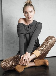 just some casual Sequin Pants