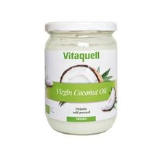 Aceite de Coco Ecológico de Vitaquell. Aceite de coco de primera prensión en frío de cultivo ecológico.