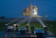 Rockwell Space Shuttle - The Space Shuttle's final, rainy night on Launch Pad 39A. Long live the space shuttle! STS-135, the final mission